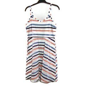 Faded Glory Striped Stretchy Sun Dress L Mini